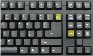 Backspace and Key Keys