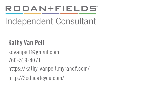 Kathy's Rodan + Fields business card