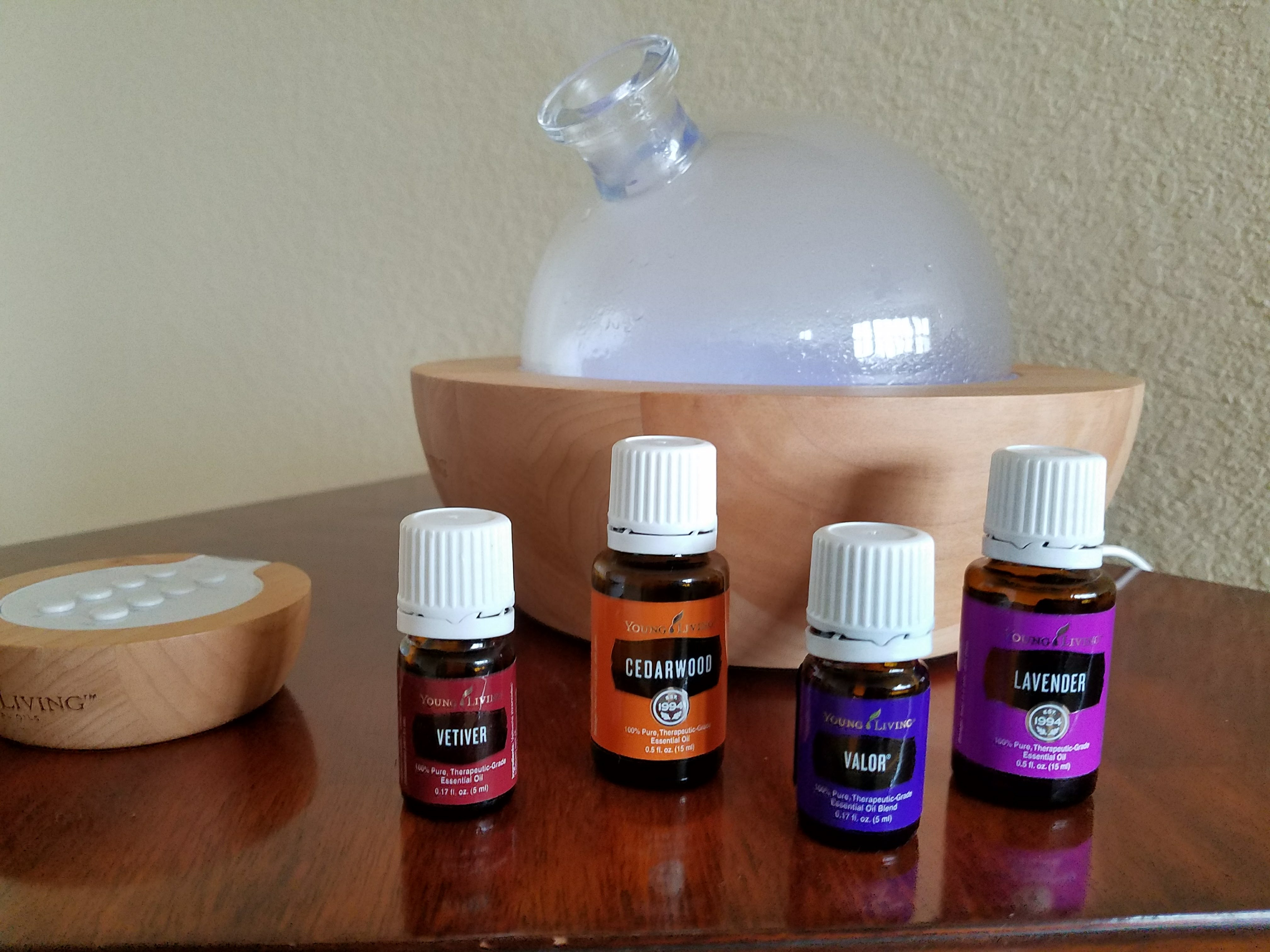 Image of diffuser and four oils