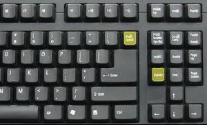 Backspace and Key Keys