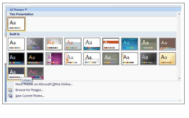PowerPoint 2007 Themes