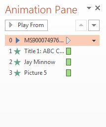 Audio clip moved to top of animation list