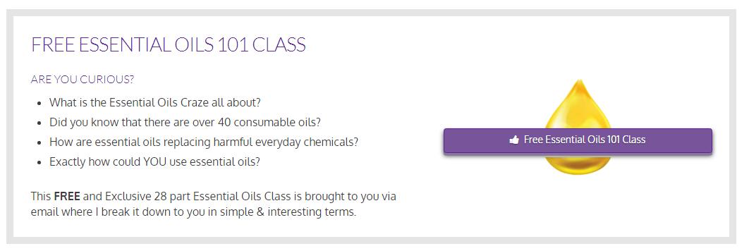 Essential oils class info